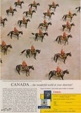 1963 Mounted Police RCMP Mountie Canadian Tourism Ad