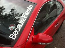 graçe à Fiesta Autocollant Pare Brise FORD ZETEC ST POINT D EVUE TDCI 550x75mm
