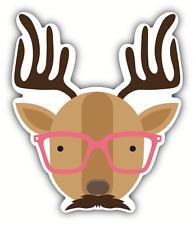 """Deer Hipster Head Animal Car Bumper Sticker Decal 4"""" x 5"""""""