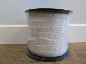 20mm 200 Metre White Electric Fence Poly Tape - Fencing Horse Paddock - ECONOMY