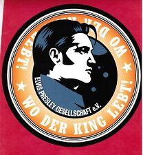 """Elvis Presley 6""""diameter promo advert for DenmarkEPFC magazine GRACELAND 2-sided"""