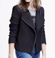 Mango Asymmetric Zip Jacket, Black Size XS {N62}