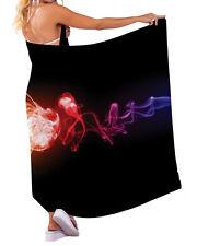 COLOURFUL SMOKE DESIGN CHIFFON SARONG SWIMWEAR BEACH COVER UP WRAP X-LARGE