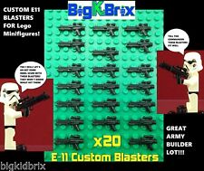 x20 Lot CUSTOM MADE E-11 Blaster for LEGO Star Wars Minifigure Stormtroopers