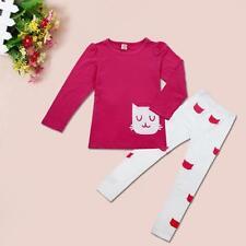 Child Toddler Kids Girls Outfits Clothes Long Sleeve T-shirt Tops+Pants 2PCS/Set