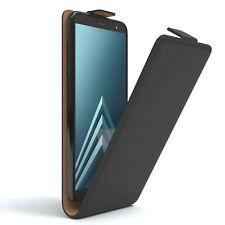 Tasche für Samsung Galaxy A6 (2018) Flip Case Schutz Hülle Handy Cover Schwarz