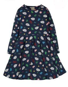 NEU Buntes Frugi Mädchen Skater dress DrehKleid Kleid langarm TanzKleid 134 140