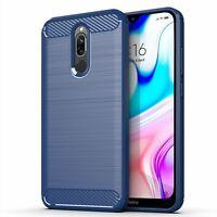 Xiaomi Redmi 8 Case Phone Cover Protective Case Carbon Case Blau