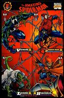 1994 The Amazing Spiderman 1st Ed. Uncut 4 Card Promo Sheet Fleer Trading Cards