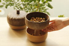 QUALY Acorn Snack Bowl Design Kitchenware Food Container Double Layer Nuts Bowl