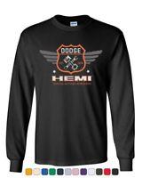 Dodge Hemi Garage Long Sleeve T-Shirt American Classic Muscle Sports Cars Tee