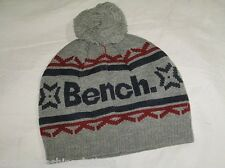 BNWT - BENCH Sonar Knitted Bobble Beanie Hat  Grey