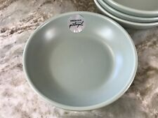 CMG Pasta Bowls Set Of 4. Beautiful Matte Sage Color. New.