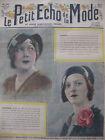 Aout 1932 Le petit écho de la mode N°34 Hebdomadaire féminin Illustré