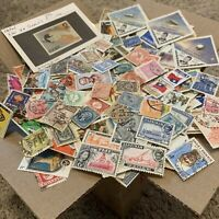 BOX LOT 1,000's OF OFF PAPER STAMPS INCLUDES 100+ WORLDWIDE COUNTRIES
