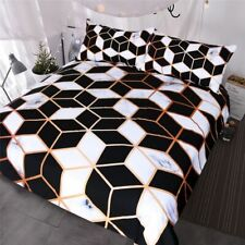 Geometric Bedding Duvet Cover Set Marble Bed Cover Fashionable Bedspreads Queen