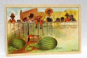 Antique Black Americana Victorian Smith-Wallace Shoe Co. Trade Card