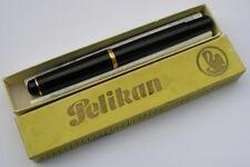 "Vintage ""Pelikan"" Fountain Pen-Black Piston Filler-Boxed-Germany 1950s"