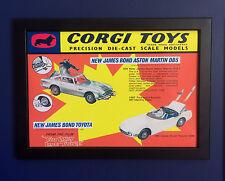 Corgi Toys 270 336 James Bond Aston Martin Toyota Framed A4 Size Poster Sign