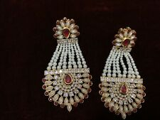 Pakistani Indian Dangling Pearl Earing Gorgeous Wedding Party