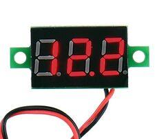 Voltmètre testeur 3 chiffres rouge DC 4,5-30 V Digital Red LCD voltmeter 3 digit