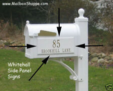 Personalized Whitehall Mail Box Side Signs  -  Signs fit any Capital Mailbox