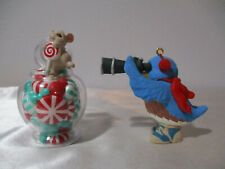 New Listing1993 Hallmark Bird Watching Bluebird + 1994 Mouse In Candy Jar Ornaments