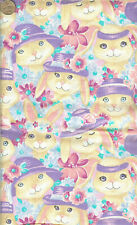 """RARE! """"EASTER BUNNIES WITH HATS"""" - BTHY - 18""""X44"""""""