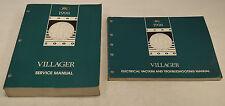 1998 Mercury Villager Van Factory Service Shop Manual + Wiring Diagrams EVTM