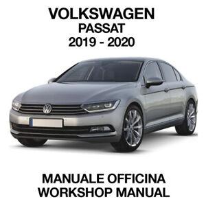 VOLKSWAGEN PASSAT 2019 2020. Service Manuale Officina Riparazione Workshop ENG