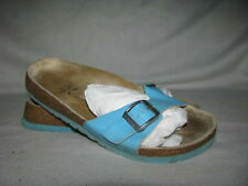 TULA by Birkenstock Ladies 5.5 36.5 Turqouise Slip On Sandals Slides Comfort