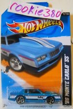 2012 Hot Wheels HW PERFORMANCE #149 ∞ '86 MONTE CARLO SS ∞ HOLLEY BLUE VARIANT