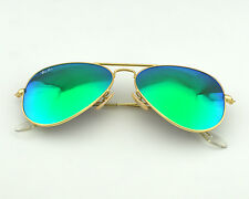 Ray-Ban RB 3025 Aviator Flash Lenses 112/19 Gold/Green Flash Glass Lens  58mm