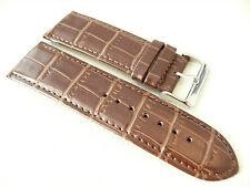 Original OSO Herren Uhrenarmband Ersatz Echtleder Bracelet 28 mm Braun Kroko