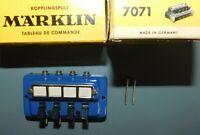 MARKLIN HO N réf 7071 . 1 x TABLEAU DE COMMANDE . PUPITRE AVEC BOITE . TBE