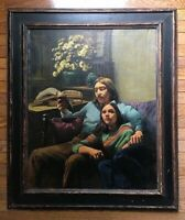 JASON B. FISHBEIN OIL PAINTING - TITLE: LOVE SONNET SIGNED: J. B. FISHBEIN 1972
