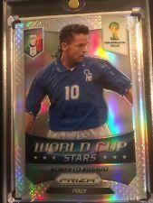 ITALY  2014 Roberto Baggio World Cup *** Stars*** Silver Prizm Panini Soccer #44