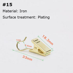 20PCS Curtain Clips Metal Ring Window Shower Drapery Curtain Hanging Clips Hooks