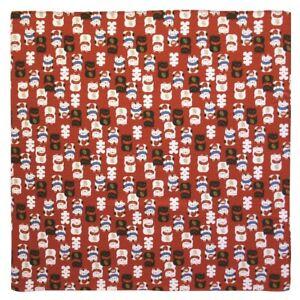 "Japanese Furoshiki Wrapping Cloth Tapestry 19.75"" Maneki Neko Lucky Cat Daruma"
