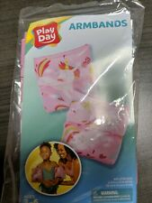 *Brand New* Play Day Inflatable Unicorn Printed Armbands in Pink Ages 3-6