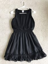 Disney D-Signed Black Ruffle Pleated Dress Girly Babydoll Edgy Grunge Chic Rock