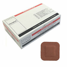 1 Box of 50 Steroplast Premium 4cmx4cm Fabric Ultra Heavy Duty Square Plasters