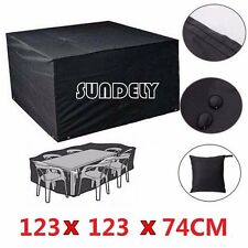 SUNDELY Waterproof Cube Garden Patio Furniture Cover Table Chair Dust Protector