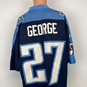 Reebok Eddie George Tennessee Titans Jersey Vtg 2000s NFL Football Sewn Size XL