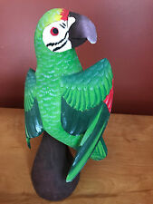 Vintage Hand Carved Hand Painted Macaw from Puyo Pastaza Ecuador