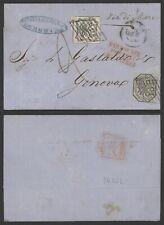Vatican 1857 - Cover to Genova Italy L629