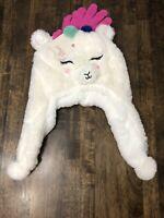 So Llama Girls Size M/L Winter Hat Kohl's Faux Fur (Retails $28)