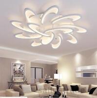Modern LED White Acrylic Ceiling Lights for Living Room Bedroom Chandelier Lamp