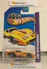 '76 Greenwood Corvette #208 * Yellow * 2013 Hot Wheels * A17