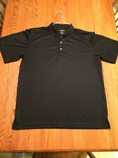 George Short-Sleeved Golf Polo Shirt Black Solid Large 42-44